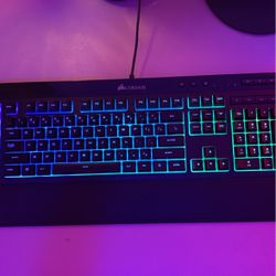 Corsair Gaming Keyboard And Red Dragon Griffin Gaming Mouse With Corsair Gaming Mouse Pad for Sale in Amherst,  VA