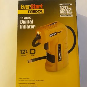 BRAND NEW EVERSTART 120PSI Digital Handheld Compressor w/Work Light for Sale in Hartford, CT