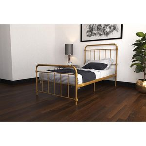 Metal Bed, Twin, Gold for Sale in Alexandria, VA