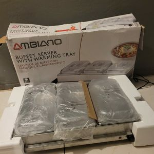 NEWWW AMBIANO BUFFET SERVER WITH WARMING TRAY for Sale in Miami, FL