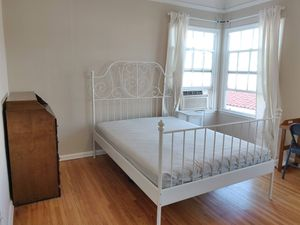 Ikea Beautiful White Bedframe (and slats and mattress full size) for Sale in Los Angeles, CA