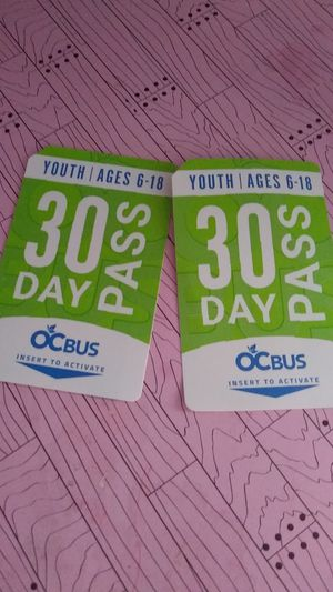 2 Youth passes for Sale in Santa Ana, CA
