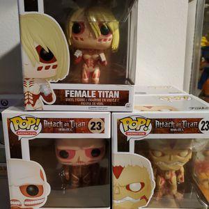 Attack On Titan Funko Pops for Sale in Santa Ana, CA
