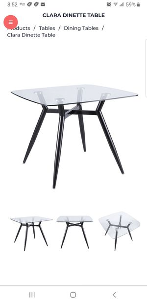 Glass and black metal dining table for Sale in Elgin, IL