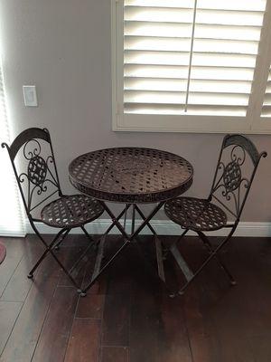 3 Piece Foldable Patio Bistro Dining Room Set - Metal for Sale in Rancho Santa Margarita, CA