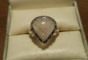 92.5 Sterling Silver Rainbow Moonstone Ring. for Sale in Pawtucket, RI