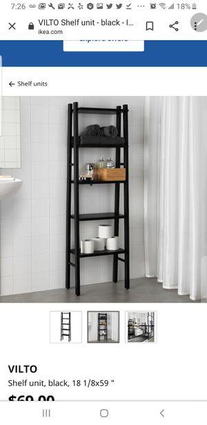 Storage Shelves/Ladder (Black) for Sale in Philadelphia, PA