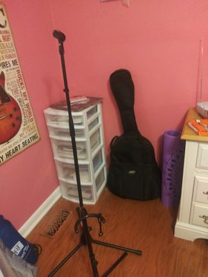 Microphone stand ($5) Guitar stand ($5) Guitar bag ($5) for Sale in Sterling Heights, MI