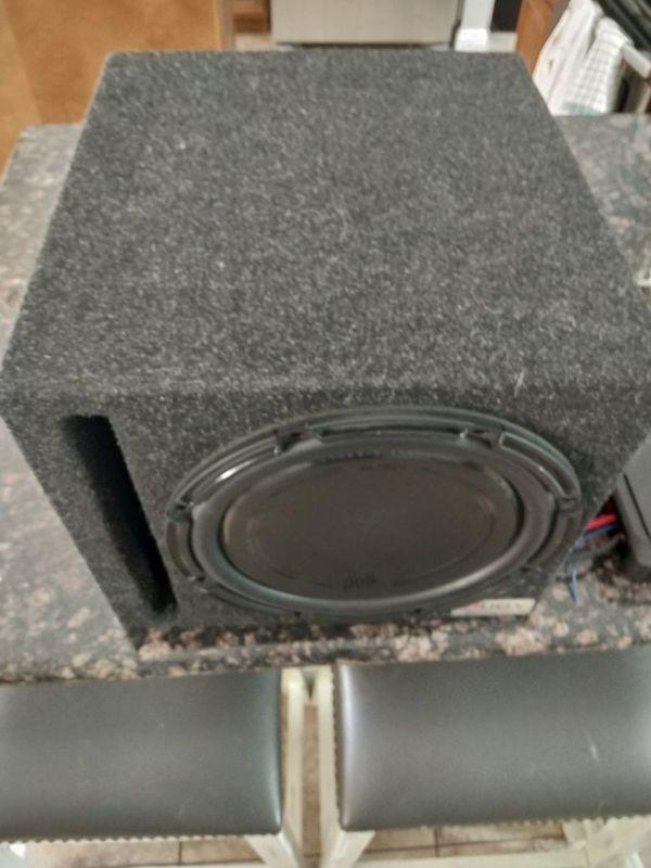 Alpine amp n Polk Audio 12 inch sub