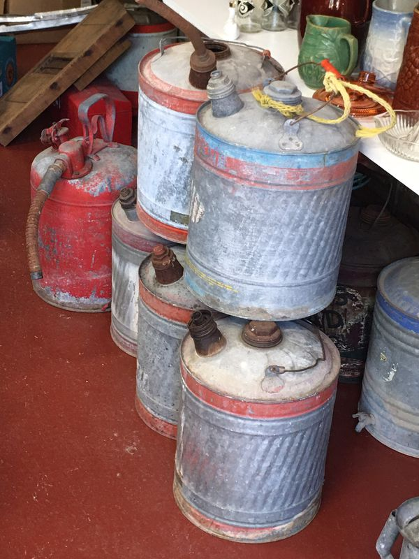 Vintage Galvanized Gas Cans