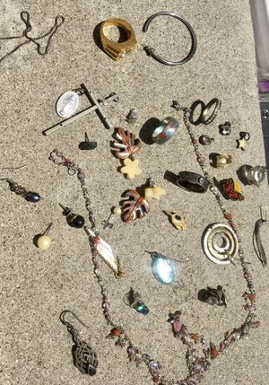 Lot of Charms, single earrings, jewelry pieces, rings for Sale in San Diego, CA