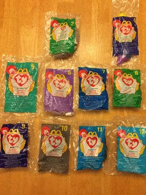 1998 McDonald's Happy Meal Beanie Babies Animals for Sale in Poway, CA