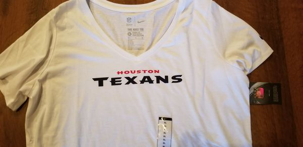 Texans Shirt Ladies XL V-Neck- New
