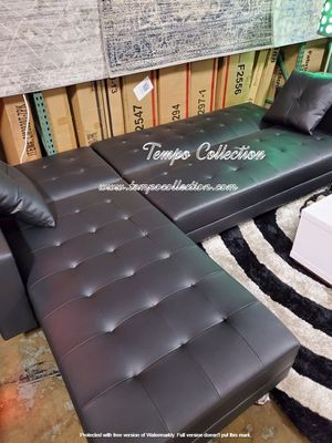 New, Leather Sectional Sofa Bed, Black, SKU# 8036BK for Sale in Westminster, CA