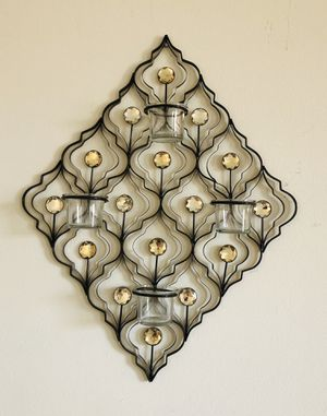 Diamond Shaped Metal Tea Light Candleholder Wall Decor—Brand NEW for Sale in Miami, FL