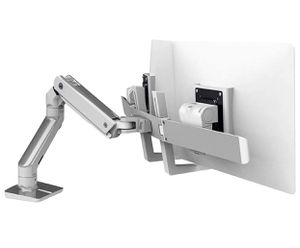 Ergotron – HX Desk Dual Monitor Arm – 24.5-Inch Extension, Polished Aluminum 2 Monitors NEW OPEN BOX Heavy-duty monitor arm lets you easily reposit for Sale in Los Angeles, CA