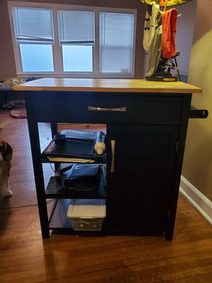 Mobile Kitchen Cutting Board Island Tower for Sale in Memphis, TN