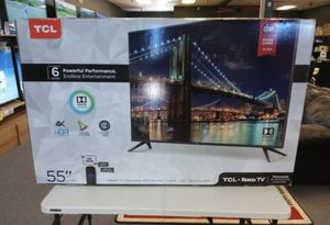 """55R613 55"""" TcL roku smart 4k Led uhd hdr tv 6 series for Sale in Fontana, CA"""