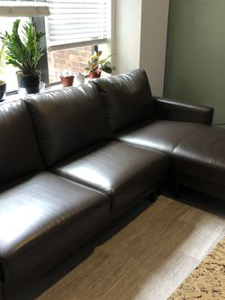 "97"" Leather Sofa / Couch w/ Chase for Sale in Houston,  TX"