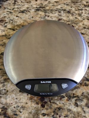 Salter Stainless Steel Round Electronic Kitchen Scale, model 1015. for Sale in Glendale, AZ
