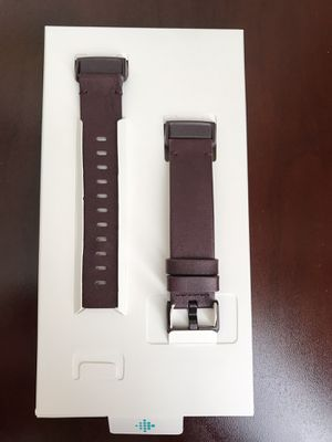 Fitbit Charge 3 horween leather plum band for Sale in Penndel, PA