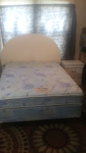 Nice full size bed complete! Headboard, metal frame and Super clean mattress. No stains! Reduced $150 to $125. Better picture on my page. for Sale in High Point, NC
