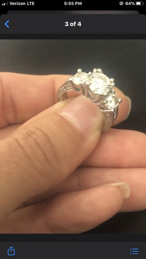 3 stone ring for Sale in Glendale, CA
