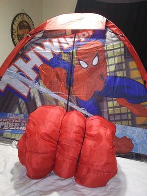 Spiderman Tent and sleeping bag for Sale in Phoenix, AZ