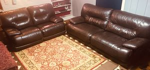 Huge real leather recliners fully electric. Please no holds pick and pay same time for Sale in Manassas, VA