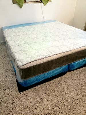 NEW KING PILLOW TOP MATTRESS AND BOX SPRING SET 3PC. for Sale in Palm Springs, FL