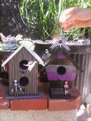 Nightmare Before Christmas/Halloween birdhouses for Sale in Huntington Park, CA