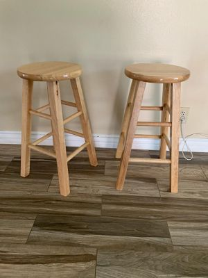 Bar stool, 24 in tall. $40 for both for Sale in Rancho Cucamonga, CA