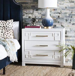 Brand New Safavieh White 3 drawer nightstand $225 each for Sale in Long Beach, CA