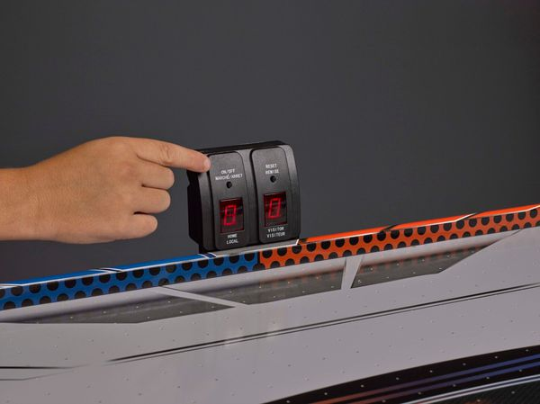 """Triumph Fire 'n Ice LED Light-Up 54"""" Air Hockey Table Includes 2 LED Hockey Pushers and LED Puck"""