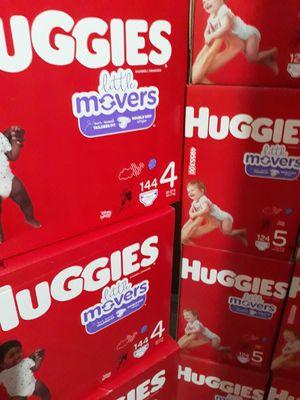 HUGGIES LITTLE MOVERS SIZE 4 y 5 $33 CADA UNO PRECIO FIRME for Sale in Santa Ana, CA