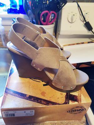 Beautiful Suede Sandals New In Box for Sale in Virginia Beach, VA