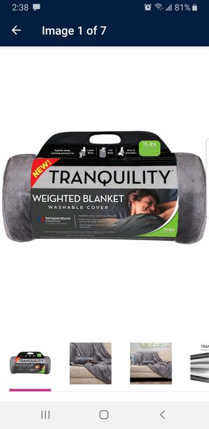 Brand New - Tranquility 15lb Weighted Blanket for Sale in Clearwater, FL