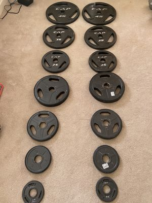 Olympic Plate Set (295lbs) for Sale in McLean, VA
