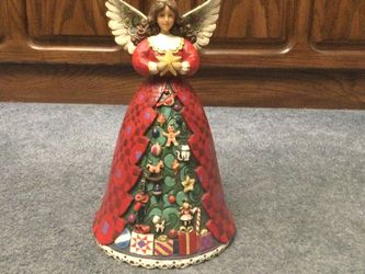 """Jim Shore - Christmas Spirit Shining Bright - Christmas Tree Angel - Musical - We Wish You a Merry Christmas - 10"""" for Sale in Sumner,  WA"""