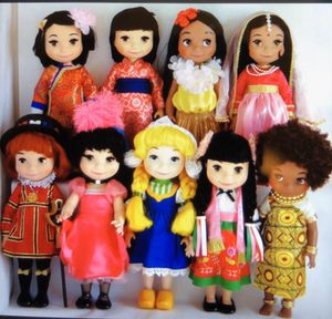 Disney animators singing dolls collection 9 country set for Sale in Madison, MS