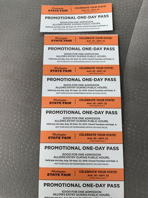 WA State Fair tickets 6 for Sale in Tacoma, WA