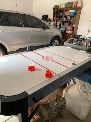 Air Hockey Table Turbo Hockey Powered by Air OR BOTH and Foosball table for $300 for Sale in Escondido, CA