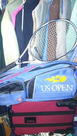 US open 🎾 tennis racket case, along with a name brand Wilson tennis racket. for Sale in Leesburg, FL