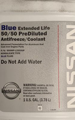 1 Gallon of Sealed Blue Coolant for Sale in San Diego,  CA