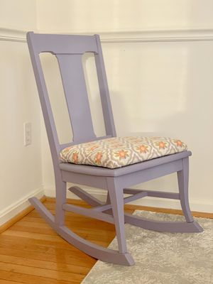 Newly upholstered antique Children's Rocking chair for Sale in Laurel, MD