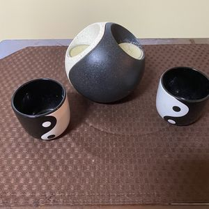 Yin Yang Tealight Candle Holders 2 Piece Set for Sale in Orangeburg, SC