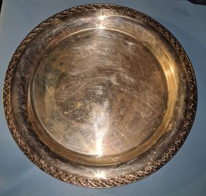 Aged silver plated round dish for Sale in Baton Rouge, LA