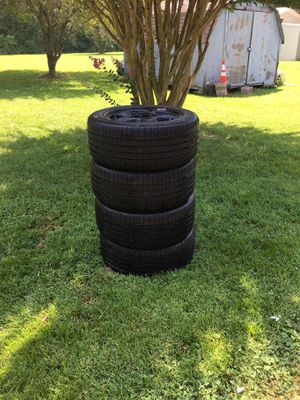 Brand new Kumho tires 235/55R16 + black rims off a 98 Camaro for Sale in Springfield, TN