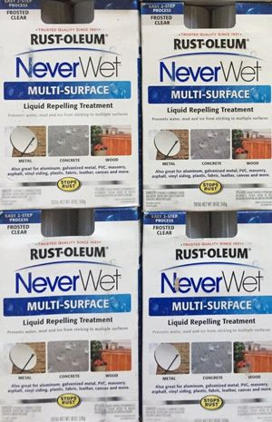 4-SETS New Rust-Oleum 18 oz. NeverWet Multi-Purpose Spray Kit ~ FROSTED CLEAR for Sale in Cañon City, CO