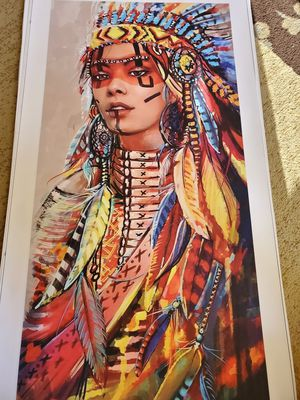 Apachi color canvas height 30 widet 16 with out frame for Sale in San Jose, CA